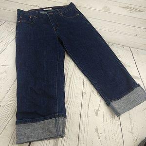 New Levi's 515 capri jeans dark 4
